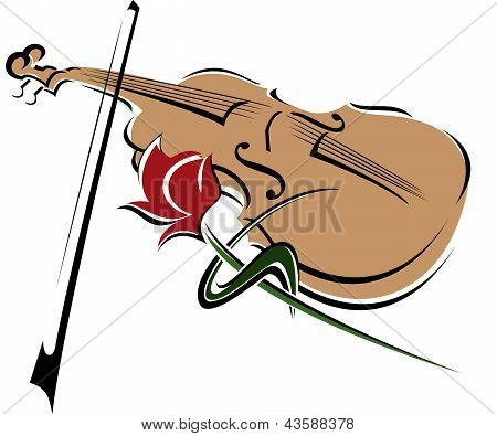 Rose And Violin