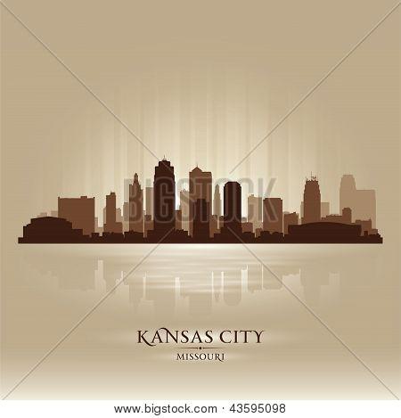 Kansas City Missouri City Skyline Silhouette