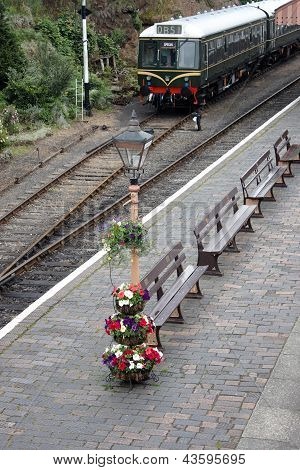 A Train In Watchet Station