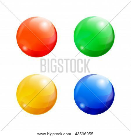Set of colorful balls
