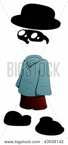 Invisible Man - Cartoon Character - Vector Illustration