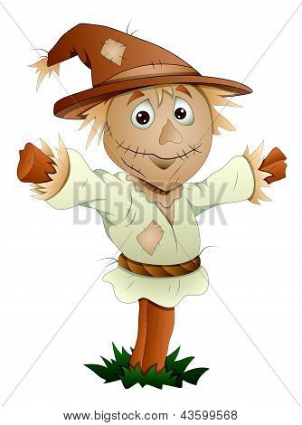 Scarecrow - Cartoon Character - Vector Illustration