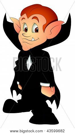 Cartoon Vampire - Vector Illustration