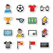 Soccer / football vector icons set
