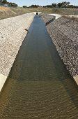 foto of upstream  - Water diversion canal upstream the Alvito reservoir near Oriola village part of the Alqueva Irrigation Plan Alentejo Portugal - JPG