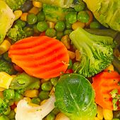 Mixed frozen vegetables