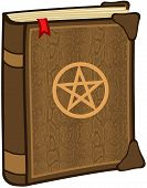 stock photo of pentagram  - Book With Pentagram - JPG