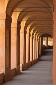 stock photo of arcade  - San Luca arcade is the longest porch in the world - JPG