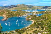 pic of west indies  - Antigua Bay view from Shirely Heights Antigua West Indies Caribbean - JPG