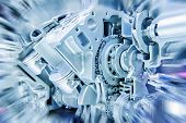 image of internal combustion  - Car engine part  - JPG