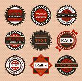 stock photo of moto-x  - Racing labels  - JPG