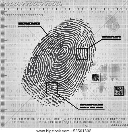 Finger print background