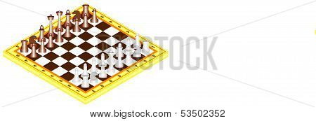 Chess On Chess Board
