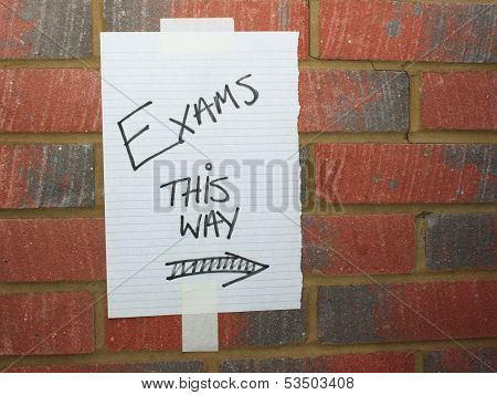 Exams This Way