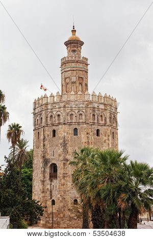 Gold tower in Seville Spain