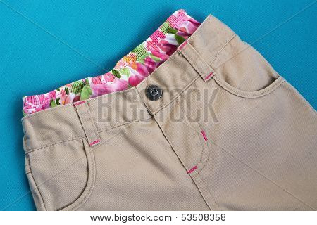 Girl's  Trousers With  Underpants