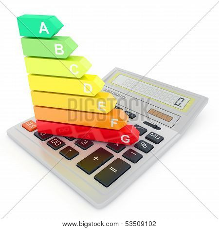 Energy efficiency rating on calculator
