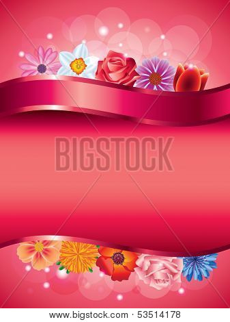 Flowers Vertical Vector Background