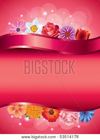 Flowers Vertical Vector Background