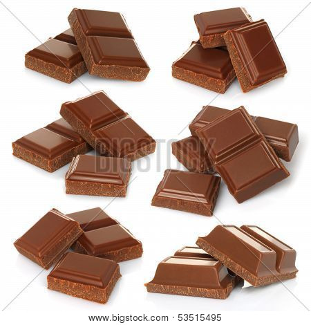 Broken milk chocolate bar set