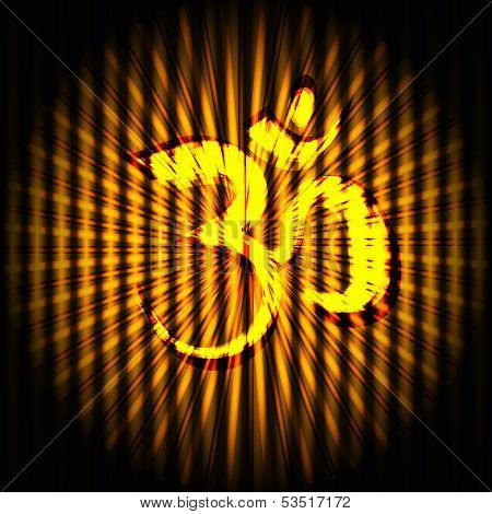 Indian hindu god Om  background