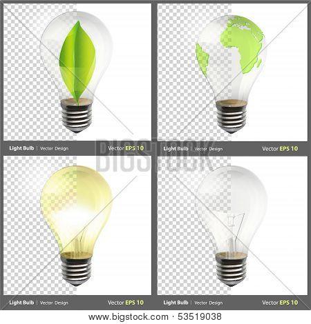 Realistic Bulb. Realistic Vector Design.