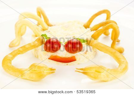 salad with cheese and crab meat