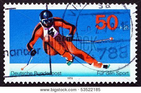Postage Stamp Germany 1978 Giant Slalom, Winter Sport