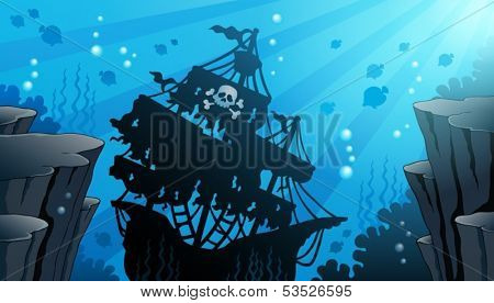 Shipwreck theme image 1 - eps10 vector illustration.