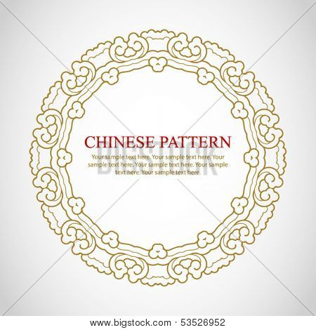 Chinese vintage frame with space for your text.
