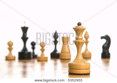 Chessmens On A Chessboard