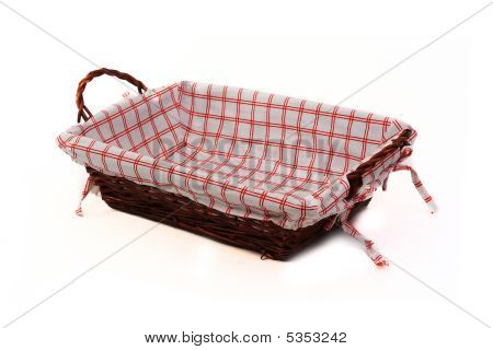 Bread Basket Isolated Over White
