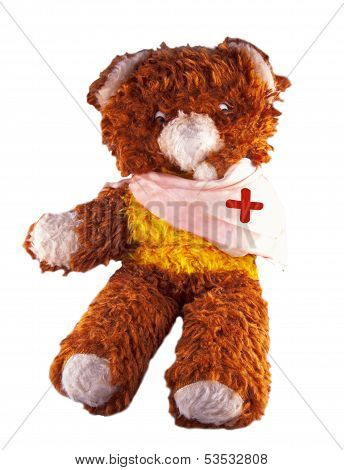 Broken Armed Teddy Bear