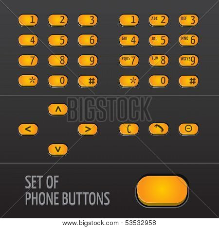 Set of Phone Buttons