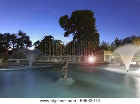 A Scottsdale Pool, Sculpture And Fountains