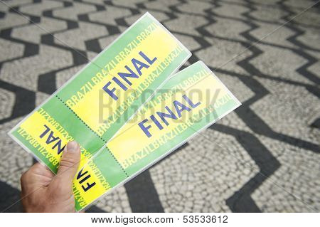 Tickets to football soccer final in Sao Paulo Brazil