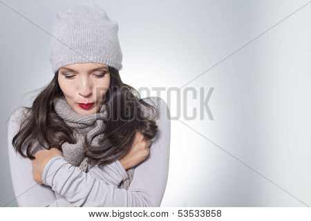 Pretty Young Woman In Winter Fashion