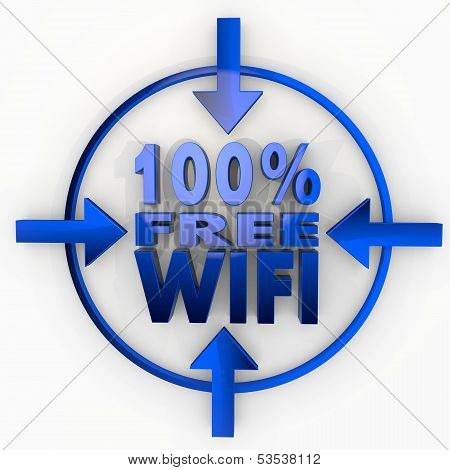 100 Percent Free Wifi Label In Focus Point