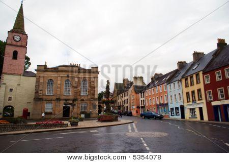 Jedburgh Streets In Scotland