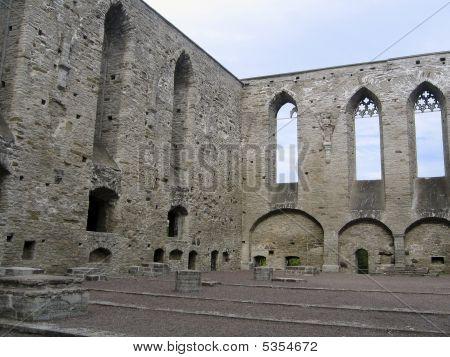 Ruins Of St. Bridget's Convent In Tallinn