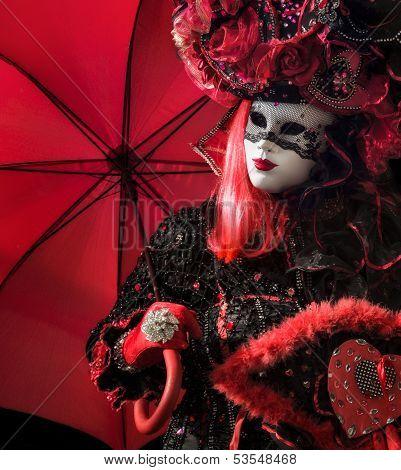 masked venetian woman