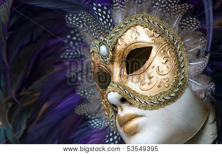 colorful venetian mask