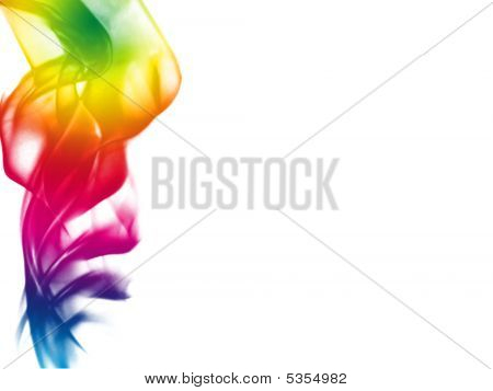Colorful Smoke Background With Place For Text