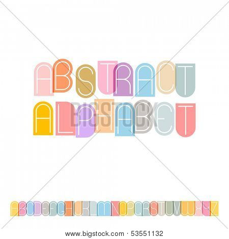 Vector abstract alphabet ( 10eps )