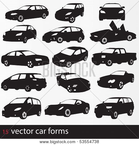 Cars silhouette