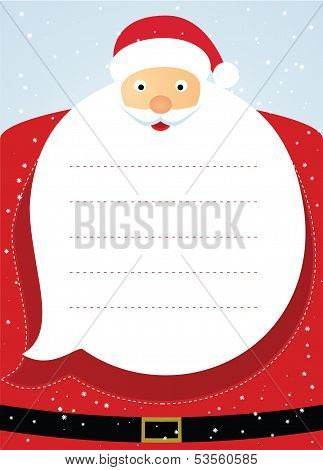 Santa claus christmas card. Vector illustration
