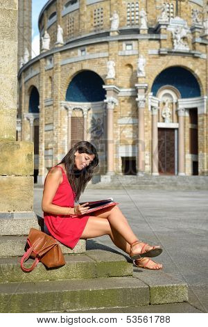 College Female Student In Europe