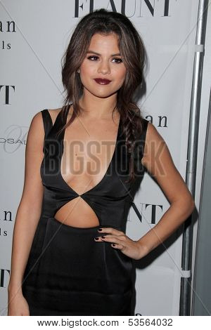 LOS ANGELES - NOV 7:  Selena Gomez at the Flaunt Magazine November Issue Party at Hakkasan on November 7, 2013 in Beverly Hills, CA