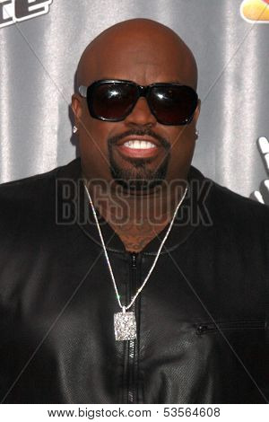 LOS ANGELES - NOV 7:  CeeLo Green at the The Voice Season 5 Judges Photocall at Universal Studios Lot on November 7, 2013 in Los Angeles, CA