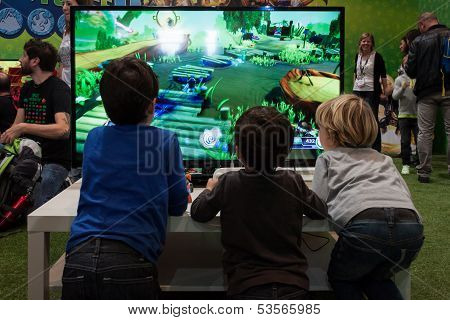 Kids Play At Games Week 2013 In Milan, Italy